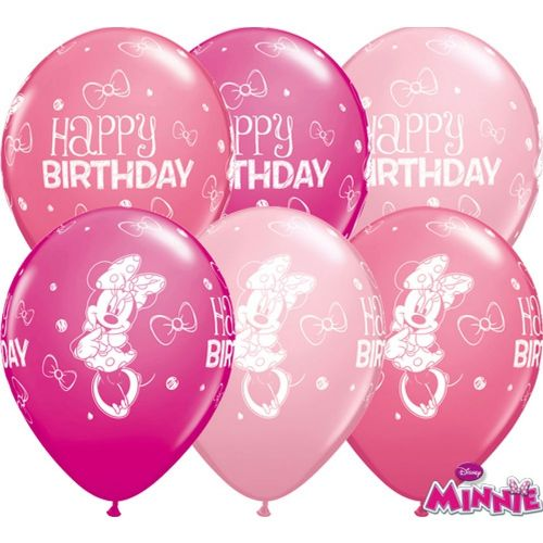 "Minnie Mouse Balloons - 11"" Latex (25pk)"